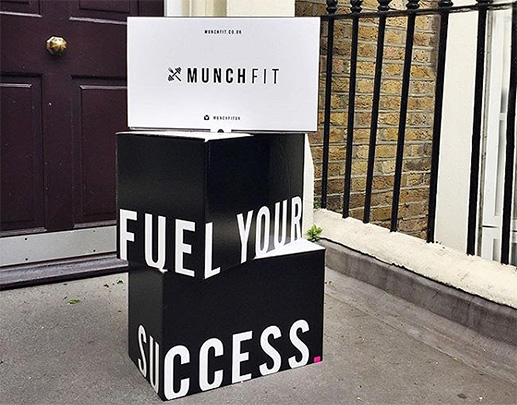 MunchFit meal boxes at door